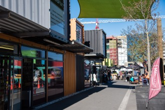 The container mall was originally a temporary shopping center made entirely of shipping containers in order to breathe new life into a devastated Christchurch. Now, it has become a city landmark.