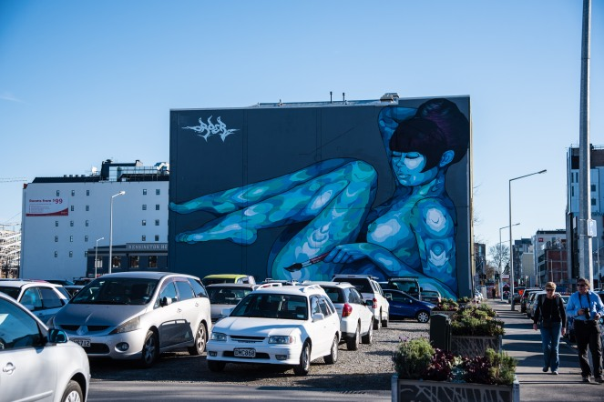 Street art can be found all over Christchurch